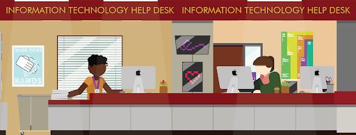 IT Help Desk drawn image