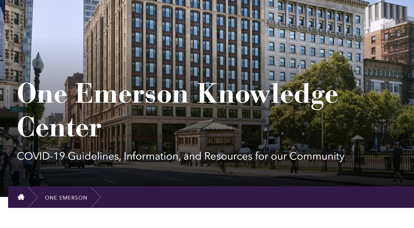 One Emerson Knowledge Center website